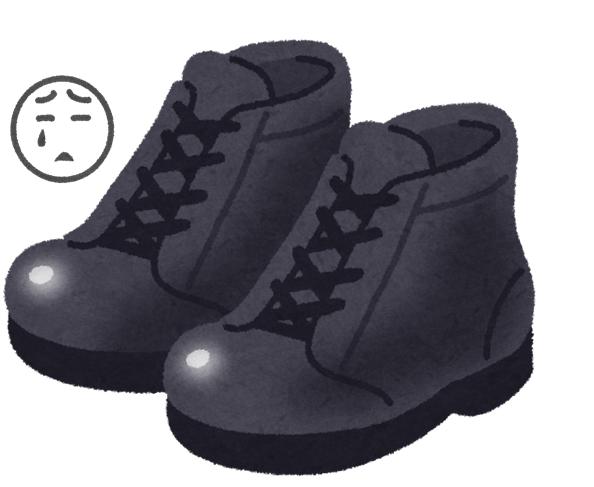 秦野から安全靴を履いていると爪が痛い!と仰る方が来ました。