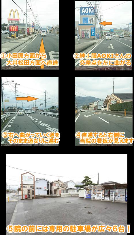 小田原からのアクセス